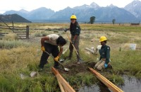 Groundwork Green Team youth out at Yellowstone National Park