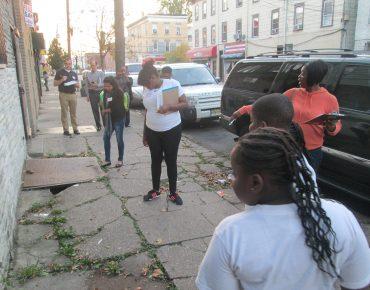 Groundwork Elizabeth conducts neighborhood walkability audit, 2014