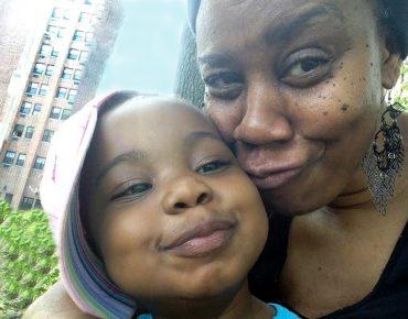 Renee with her granddaughter