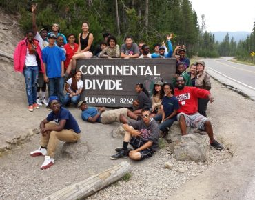 Groundwork youth in Yellowstone National Park, 2013