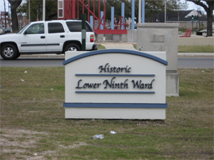 New Orleans Lower Ninth Ward Sign