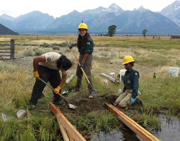 First Year for Green Team Youth at Grand Teton National Park