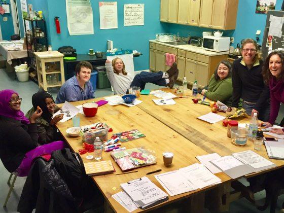 East Bayside neighborhood youth, Portland, Maine, with Groundwork USA staff