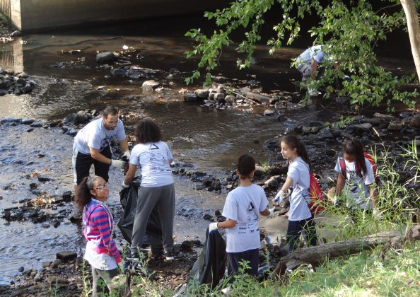 Lawrence, MA youth clean up their local waterways as part of the Groundwork Lawrence Spicket River Cleanup 2015