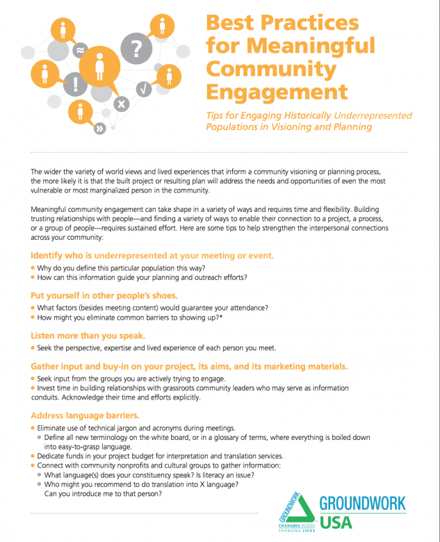 Best Practices For Meaningful Community Engagement Tip Sheet Simple Dwnlrd Some Mesningful Images
