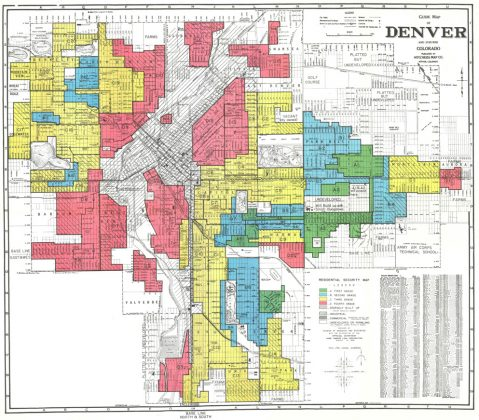 Home Owners Loan Corp Residential Security Map of Denver, 1938