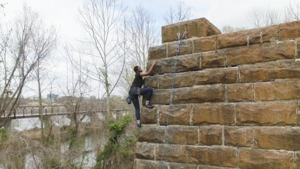 Climbing Manchester Wall