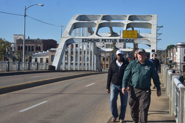 Crossing the Edmund Pettus Bridge, Selma, AL