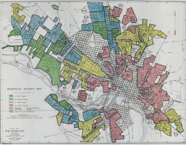 Redlining map of Richmond VA